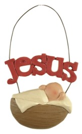 Jesus, Baby in a Manger Ornament
