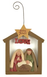 Nativity with Star, Baby Jesus Ornament
