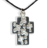 Cross with Cross Cutout Pendant