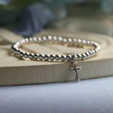 Sterling Silver Cross Charm Bracelet