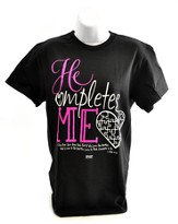 He Completes Me Shirt, Black, Small