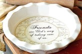Friends--Stoneware Pie Plate