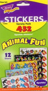 Animal Fun Variety Pack Sparkle Stickers
