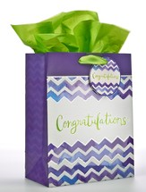 Congratulations Chevron, Medium Gift Bag