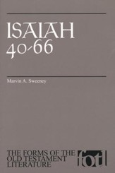 Isaiah 40-66, The Forms of the Old Testament Literature (FOTL)