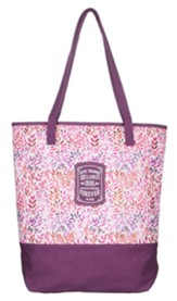 Give Thanks, Purple Tote Bag