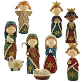 Nativity, Knitted Finish, 9 pieces