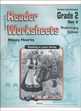 Happy Hearts, Reader Worksheets Grade 2, Set 2