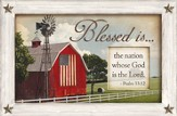 Blessed is the Nation Whose God is the Lord, Framed Print