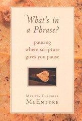 What's in a Phrase? Pausing Where Scripture Gives You   Pause ?