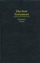KJV Giant Print New Testament, Hardcover, black