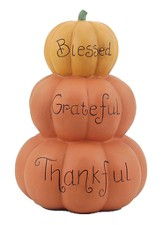 Blessed, Grateful, Thankful Stacked Pumpkin