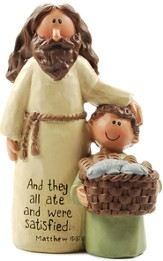 Jesus, Boy with Basket, And They All Ate