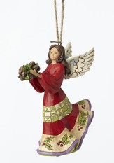 Holly Angel Ornament
