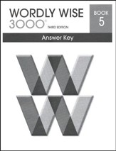 Wordly Wise 3000 3rd Edition Answer Key Book 5