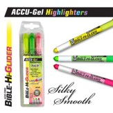 Gel Bible Highlighter, 3 Piece Set, Yellow, Green, Pink