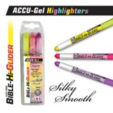 Gel Bible Highlighter, 3 Piece Set, Yellow, Pink, Violet