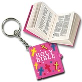 Smallest Bible Keychain, Pink