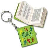 Smallest Bible Keychain, Green
