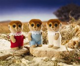 Calico Critters Spotter Meerkat Triplets