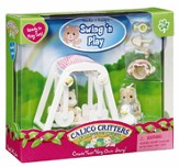 Calico Critters Peaches & Freddy's Swing 'n Play