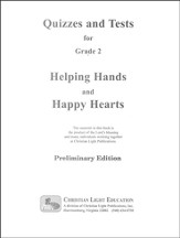 Helping Hands & Happy Hearts Quizzes & Tests GR 2 Teacher's Guide w/Answers