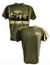 Duck Dynasty, Faith, Family, Ducks Shirt, Moss Green, X-Large