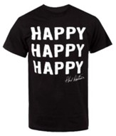 Happy Happy Happy Shirt, Black, XXX-Large