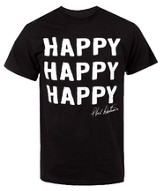 Happy Happy Happy Shirt, Black, Large