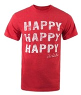 Happy Happy Happy Shirt, Red, X-Large