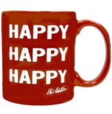 Happy, Happy, Happy  Signature Mug, Red