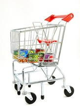 Grocery Cart with Can Set