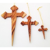 Nail Cross Ornaments, Set of 3