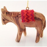Donkey with Red Saddle Ornament