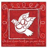 Christmas Peace Easel Backed Magnet