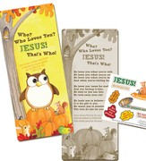 Who Loves You Activity Bookmark with Stickers