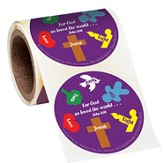 Gospel Salvation Story, Roll of 36 Stickers