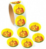 Pumpkin Prayer, Roll of 36 Stickers