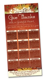 Grateful Heart 12 Month Magnetic Calendar