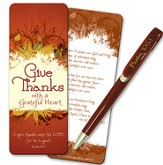 Grateful Heart Jumbo Bookmark with Pen Gift Set