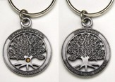 Mustard Seed Pewter-Finished Keychain