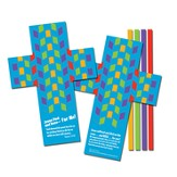 Teachable Moments to Go Cross Mat Weaving Activity Set, 12