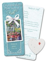 Grandmother Bookmark with Plantable Seed Heart