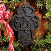 Outdoor Bronze Christmas Cross