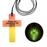 God Lights Our World, Glow In the Dark, Multi Colored Necklace