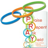 P.R.A.Y. Tri Band Bracelets with Reminder Card