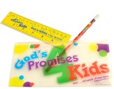God's Promises for Kids School Pack Including Pencil, Ruler, and Storage Case