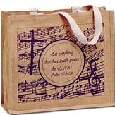 Expressions of Praise Jute Oversized Tote