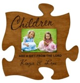 Personalized, Photo Frame, Puzzle, Cherry, Children are a Gift From the Lord, Cherry