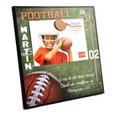Personalized, Magnetic Photo Frame, Football
